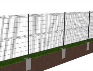 Kit de 40 ml de clôture rigide à sceller avec panneaux BASTIPRO