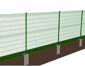 Kit de 40 ml de clôture rigide à sceller avec panneaux BASTIPLI PREMIUM