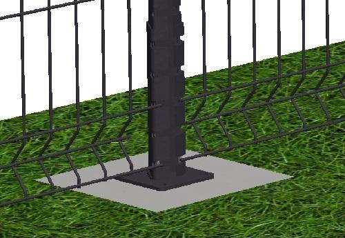 Kit de 30 ml de clôture rigide sur platines panneaux BASTIPRO