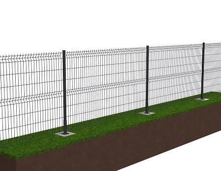 Kit de 100 ml de clôture rigide sur platines avec panneaux BASTIPRO