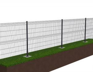 Kit de 40 ml de clôture rigide sur platines avec panneaux BASTIPRO