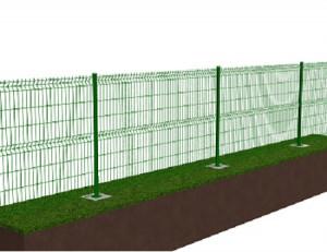 Kit de clôture en panneaux rigides