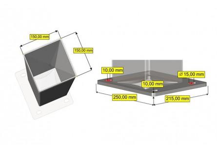 Pilier Aluminium sur Platine