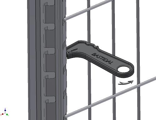 Kit de 100 ml de clôture rigide sur platines avec Panneaux BASTIPLI PREMIUM