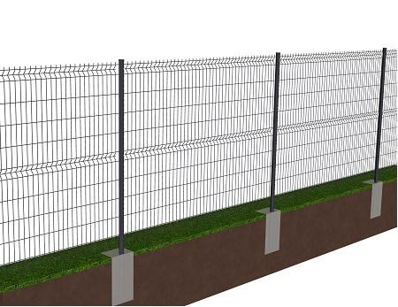 Kit de 50 ml de clôture rigide à sceller avec panneaux BASTIPRO