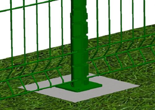 Kit de 20 ml de clôture rigide sur platines avec panneaux BASTIPLI PREMIUM